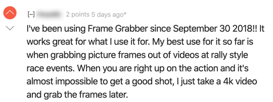 Reddit review for Frame Grabber.